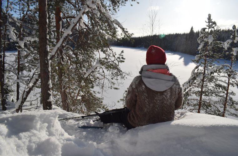 Winter view, Myllykoski, Ruokolahti