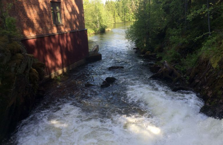 Ritakoski rapids in the river Hiitolanjoki