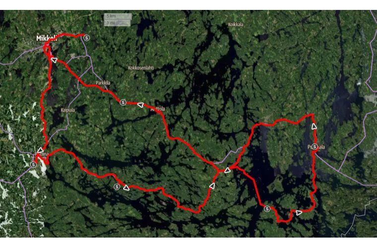 Reittikartta Route map